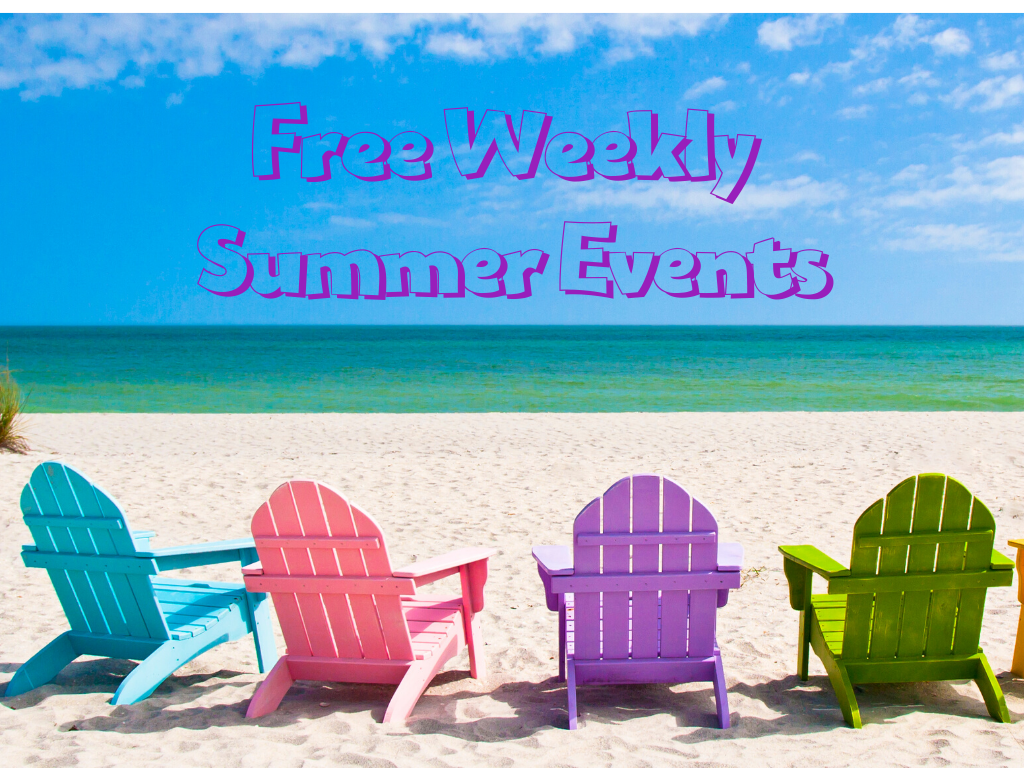 Things to do at the shore include free weekly summer events in each town.