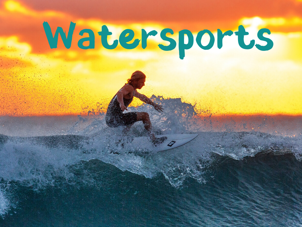 Things to do at the shore include Watersports, which are plentiful at the shore.